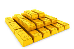 Stacked golden bars Stock Image