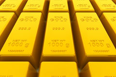 Stacked golden bars Royalty Free Stock Photo