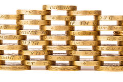 Stacked golden coins Stock Image
