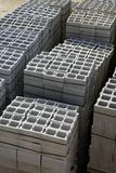 Stacked gran construction block piles Stock Photo