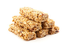 Stacked Granola Bars Isolated on White Royalty Free Stock Photography