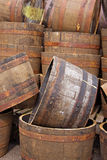 Stacked Half Barrels Stock Photography