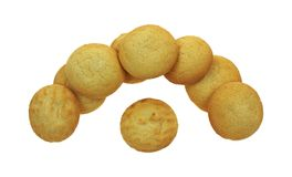 Stacked Half Circle Lemon Cookies Royalty Free Stock Images