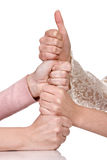 Stacked hands Royalty Free Stock Image