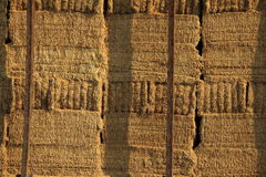 Stacked Hay Bale Background Stock Images