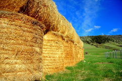Stacked Hay Bales Royalty Free Stock Photography