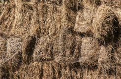 Stacked hay bales Royalty Free Stock Photos