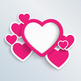 Stacked heart illustration Stock Photo