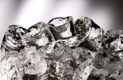 Stacked ice cubes Royalty Free Stock Images