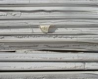 Stacked industrial isolation foam on a demolition site Stock Image