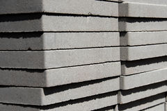 Stacked landscaping and garden pavers Stock Photos