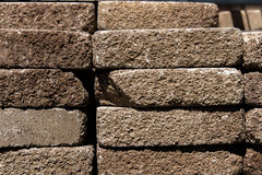 Stacked landscaping and garden pavers Stock Photo