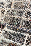 Stacked lobster nets Stock Image