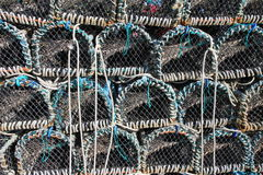 Stacked Lobster Pots. A image / frame filled with Stacked Lobster Pots Royalty Free Stock Image
