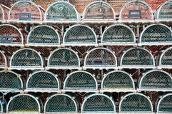 Stacked lobster traps Stock Photography
