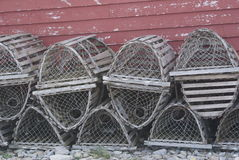 Stacked Lobster Traps Royalty Free Stock Photography