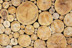 Stacked Logs Background Royalty Free Stock Photography