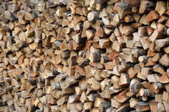 Stacked logs for fire Stock Image