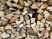 Stacked logs firewood Stock Photography