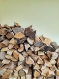 Stacked logs firewood Stock Images
