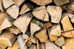 Stacked logs of firewood Stock Photography