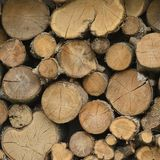 Stacked Logs. Generic Woodstack background Royalty Free Stock Image