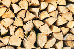 Stacked logs. Lumber Industry- Stacked and cut logs Royalty Free Stock Images