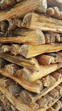 Stacked logs. Organised stack of logs Stock Image