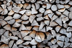 Stacked logs and wood Stock Image