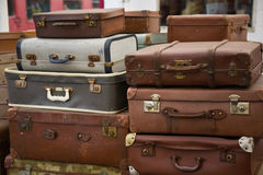 Stacked Luggage Stock Image