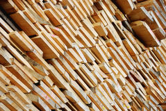 Stacked Lumber Stock Image