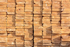 Stacked Lumber at Construction Site Royalty Free Stock Photo