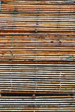 Stacked Lumber at the Mill Royalty Free Stock Images