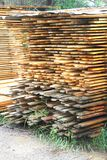 Stacked lumber Royalty Free Stock Photo