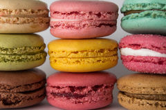 Stacked macarons. colored macaroons. Stock Image