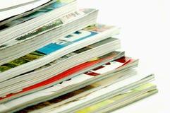 Stacked Magazines Stock Image