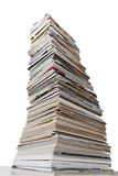 Stacked Magazines and Shredded Paper Royalty Free Stock Photography