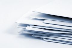 Stacked Mail royalty free stock image