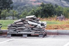 Stacked Marble bricks royalty free stock photo