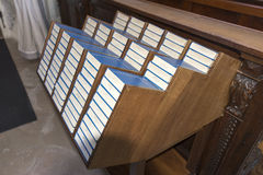 Stacked Mass bibles Royalty Free Stock Image