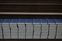 Stacked Mass bibles Stock Images