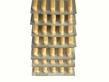 Stacked medicine blisters Royalty Free Stock Photo