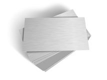 Stacked metal plates Royalty Free Stock Images