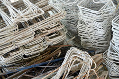 Stacked metal stirrup for construction, a pile of steel stirrup Stock Images