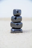 Stacked Metallic Stones Royalty Free Stock Photography