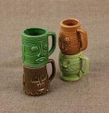 Stacked Miniature Mugs Stock Image