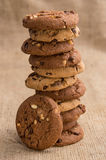 Stacked mixed Cookies Royalty Free Stock Images