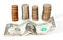Stacked money Royalty Free Stock Photo