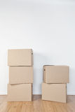 Stacked Moving Boxes Royalty Free Stock Images