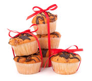 Stacked muffins Stock Photo